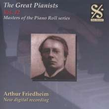Piano Roll Recordings - Arthur Friedheim, CD