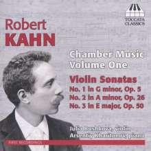 Robert Kahn (1865-1951): Kammermusik Vol.1 - Sonaten für Violine & Klavier, CD