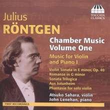 Julius Röntgen (1855-1932): Kammermusik Vol.1, CD
