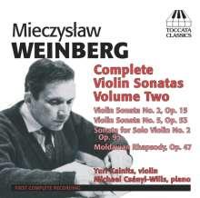 Mieczyslaw Weinberg (1919-1996): Sämtliche Violinsonaten Vol.2, CD