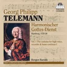 """Georg Philipp Telemann (1681-1767): """"Harmonischer Gottesdienst"""" Vol.1, CD"""