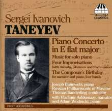 Serge Tanejew (1856-1915): Klavierkonzert Es-Dur, CD