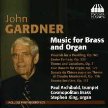 John Gardner (1917-2011): Musik für Blechbläser & Orgel, CD