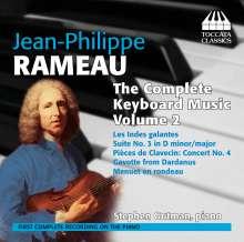 Jean Philippe Rameau (1683-1764): Sämtliche Klavierwerke Vol.2, CD