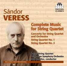 Sandor Veress (1907-1992): Sämtliche Werke für Streichquartett, CD