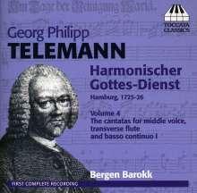 Georg Philipp Telemann (1681-1767): Harmonischer Gottesdienst Vol.4, CD