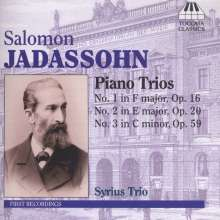 Salomon Jadassohn (1831-1902): Klaviertrios Nr.1-3, CD