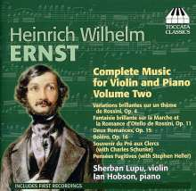 Heinrich Wilhelm Ernst (1814-1865): Sämtliche Werke für Violine & Klavier Vol.2, CD