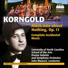 Erich Wolfgang Korngold (1897-1957): Much Ado about Nothing op.11 (Komplette Bühnenmusik), CD