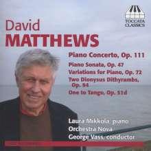 David Matthews (geb. 1943): Orchesterwerke, CD