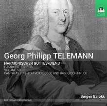"""Georg Philipp Telemann (1681-1767): """"Harmonischer Gottesdienst"""" Vol.6, CD"""