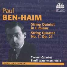Paul Ben-Haim (1897-1984): Streichquartett Nr.1 (op.21), CD