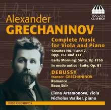 Alexander Gretschaninoff (1864-1956): Sämtliche Werke für Viola & Klavier, CD