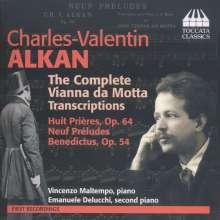 Jose Vianna da Motta (1868-1948): Transkriptionen für Klavier nach Orgelwerken von Charles Alkan, CD