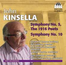 John Kinsella (geb. 1932): Symphonien Nr.5 & 10, CD