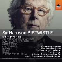 Harrison Birtwistle (geb. 1934): Lieder, CD