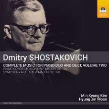 Dmitri Schostakowitsch (1906-1975): Sämtliche Werke für 2 Klaviere & Klavier 4-händig Vol.2, CD