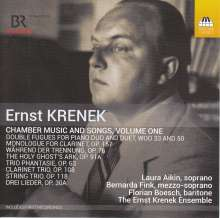 Ernst Krenek (1900-1991): Kammermusik & Lieder Vol.1, CD