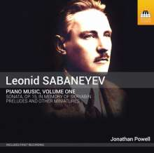Leonid Sabaneev (1881-1968): Klavierwerke Vol.1, CD
