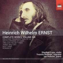 Heinrich Wilhelm Ernst (1814-1865): Sämtliche Werke Vol.6, CD
