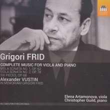 Grigori Frid (1915-2012): Sämtliche Werke für Viola & Klavier, CD