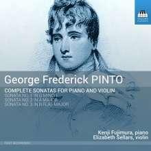 George Frederick Pinto (1785-1806): Sonaten für Violine & Klavier Nr.1-3, CD