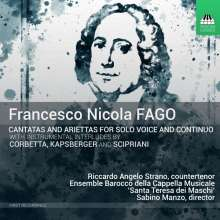 Francesco Nicola Fago (1677-1745): Kantaten für Solostimme & Bc Vol.1, CD