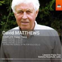 David Matthews (geb. 1943): Sämtliche Klaviertrios, CD