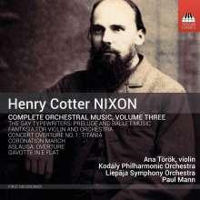 Henry Cotter Nixon (1842-1907): Orchesterwerke Vol.3, CD