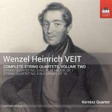 Wenzel Heinrich Veit (1806-1864): Sämtliche Streichquartette Vol.2, CD