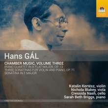 Hans Gal (1890-1987): Klavierquartett op.13, CD