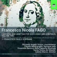 Francesco Nicola Fago (1677-1745): Kantaten für Solostimme & Bc Vol.2, CD