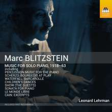 Marc Blitzstein (1905-1964): Klavierwerke, CD