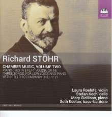 Richard Stöhr (1874-1967): Kammermusik Vol.2, CD