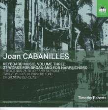Juan Bautista Cabanilles (1644-1712): Musik für Tasteninstrumente Vol.3, CD