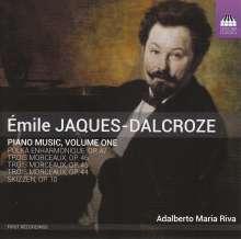 Emile Jaques-Dalcroze (1865-1950): Klavierwerke Vol.1, CD