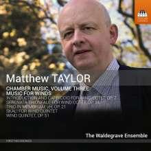 Matthew Taylor (geb. 1964): Bläserquintett op.51, CD