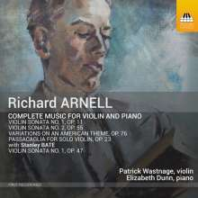 Richard Arnell (1917-2009): Sämtliche Werke für Violine & Klavier, CD