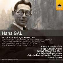 Hans Gal (1890-1987): Kammermusik mit Viola Vol.1, CD
