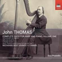 John Thomas (1826-1913): Sämtliche Duos für Harfe & Klavier Vol.1, CD