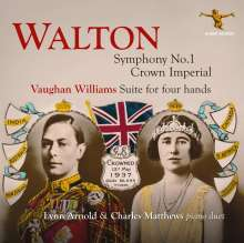 William Walton (1902-1983): Symphonie Nr.1 für Klavier 4-händig, CD