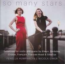 Fenella Humphreys - So Many Stars, CD