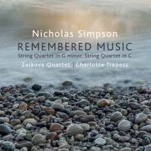 Nicholas Simpson (geb. 1958): Streichquartette C-Dur & g-moll, CD