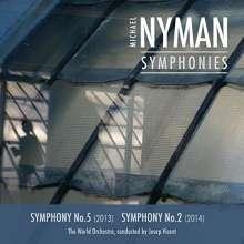 Michael Nyman (geb. 1944): Symphonien Nr.2 & 5, CD