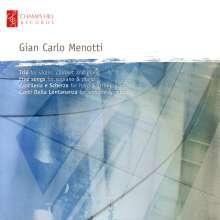 Gian-Carlo Menotti (1911-2007): Trio für Violine,Klarinette & Klavier, CD