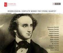 Felix Mendelssohn Bartholdy (1809-1847): Streichquartette Nr.1-6, 4 CDs