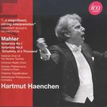 Gustav Mahler (1860-1911): Symphonien Nr.1 & 8, 2 CDs