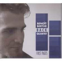 Benoit Berthe Quartet Back: First Pages, CD