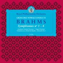 Johannes Brahms (1833-1897): Symphonien Nr.1-4, 5 CDs