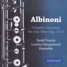 Tomaso Albinoni (1671-1751): Oboenkonzerte op.7 Nr.3,6,9,12, CD